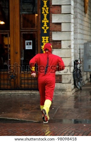 Austin, TX - March 9: SXSW Interactive Conference in Austin. It is usual to see people dress up in costume during the conference. - stock photo
