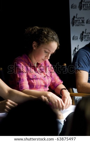 AUSTIN,TX - OCTOBER 24: Actress Madi Goff attends the ' The Hand Job ' Script Reading at the Rollins Theatre during the 17th Annual Austin Film Festival on October 24, 2010 in Austin, TX. - stock photo