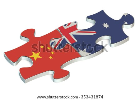 Australia and China puzzles from flags