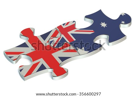 Australia and United Kingdom puzzles from flags