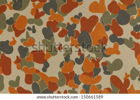 Australia armed force auscam desert camouflage fabric texture background