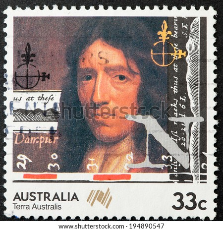 AUSTRALIA - CIRCA 1985:A Cancelled postage stamp from Australia illustrating Australis Navigators , issued in 1985.