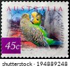 AUSTRALIA - CIRCA 2001:A Cancelled postage stamp from Australia illustrating Desert Birds, issued in 2001. - stock photo