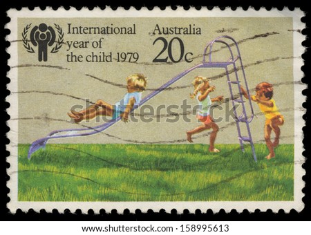 AUSTRALIA - CIRCA 1979: A stamp printed in Australia shows international year of the child, circa 1979