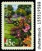 AUSTRALIA - CIRCA 2000: A Stamp printed in Australia shows the Canna X generalis varieties, Gardens series, circa 2000 - stock photo