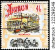 AUSTRALIA - CIRCA 1990: A Stamp printed in AUSTRALIA shows the Factories, Colonial Development, Boomtime series, circa 1990 - stock photo
