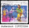 AUSTRALIA - CIRCA 1989: A stamp printed in AUSTRALIA shows the Netball, Sport series, circa 1989 - stock photo