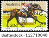 AUSTRALIA - CIRCA 1978: A Stamp printed in AUSTRALIA shows the Tulloch, Race horses series, circa 1978 - stock photo
