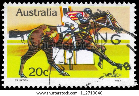 AUSTRALIA - CIRCA 1978: A Stamp printed in AUSTRALIA shows the Tulloch, Race horses series, circa 1978