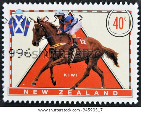 AUSTRALIA - CIRCA 1996: A stamp printed in New Zealand shows riding, circa 1996