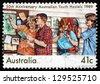AUSTRALIA - CIRCA 1989: a stamp printed in the Australia shows Australian Youth Hostels, 50th Anniversary, circa 1989 - stock photo