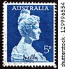 AUSTRALIA - CIRCA 1961: a stamp printed in the Australia shows Dame Nellie Melba, by Sir Bertram Mackennal, Singer, Operatic Soprano, circa 1961 - stock photo