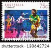 AUSTRALIA - CIRCA 1991: a stamp printed in the Australia shows Netball, Ball Sport, circa 1991 - stock photo