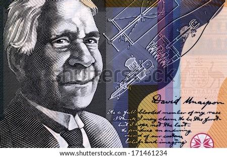 AUSTRALIA - CIRCA 2009: David Unaipon (1872-1967) on 50 Dollars 2009 from Australia. Indigenous Australian whose helped to break many Indigenous Australian stereotypes. - stock photo