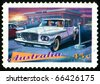 AUSTRALIA - CIRCA 1997: stamp printed by Australia, shows Classic Cars, Chrysler Valiant, circa 1997 - stock photo