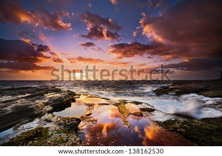 Australia Cloud Reflections - stock photo