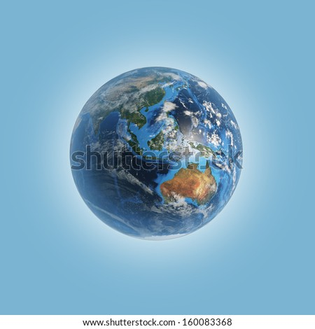 Australia. Elements of this image furnished by NASA