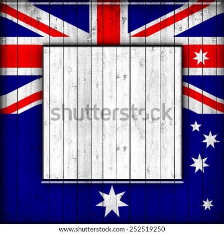 Australia Flagframe Wood Wood Background Stock Illustration ...