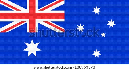 Australia flag with a plastic brick background.  - stock photo