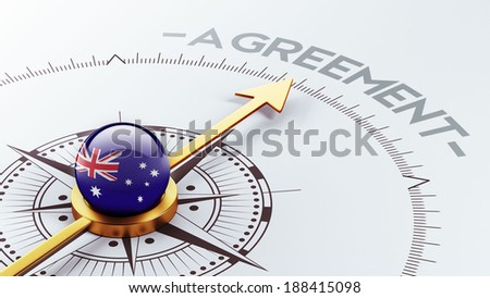 Australia High Resolution Agreement Concept - stock photo
