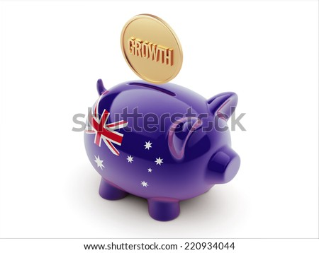 Australia High Resolution Growth Concept High Resolution Piggy Concept - stock photo