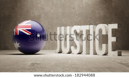 Australia High Resolution Justice Concept - stock photo