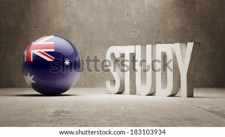 Australia High Resolution Study Concept - stock photo