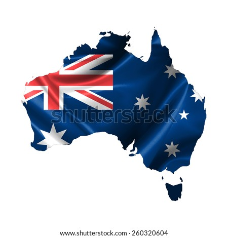 Australia map - stock photo