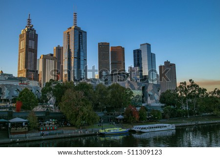 Australia Melbourne City Sunset on 26 April 2016