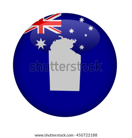 Australia Northern territory map button on a white background. - stock photo