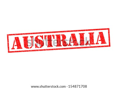AUSTRALIA Rubber Stamp over a white background. - stock photo