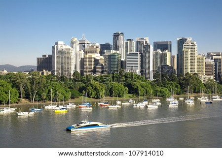Australia's Brisbane city - stock photo