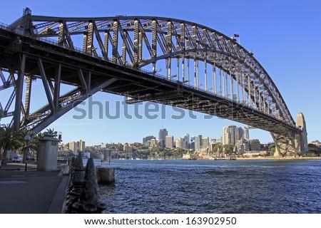 Australia's famous attraction and landmarks the Sydney Harbour bridge. - stock photo