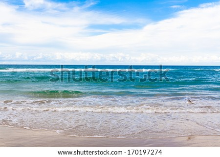 Australia's Gold Coast beach - stock photo
