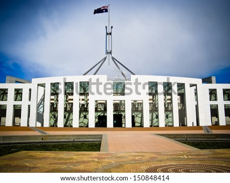 Australia's Parliament House - Canberra - stock photo