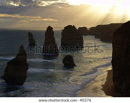 Australia seahore 12 apostels - stock photo