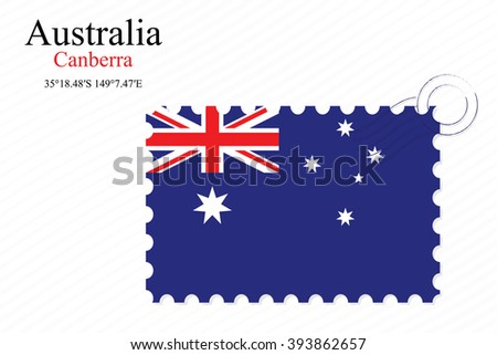 australia stamp design over stripy background, abstract art illustration, image contains transparency