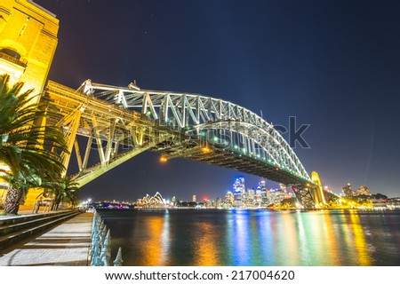 Australia, Sydney, Harbour Bridge Apr 12,2012 - stock photo