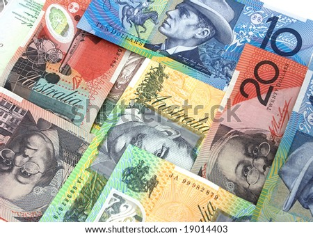 Australian banknotes background