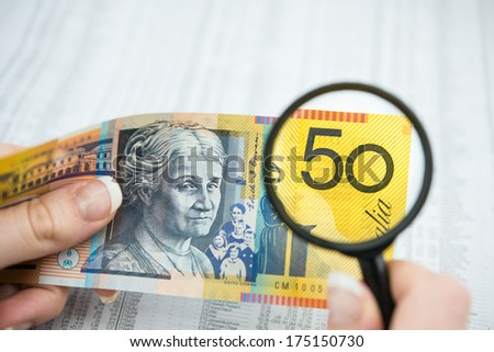 Australian Currency - stock photo