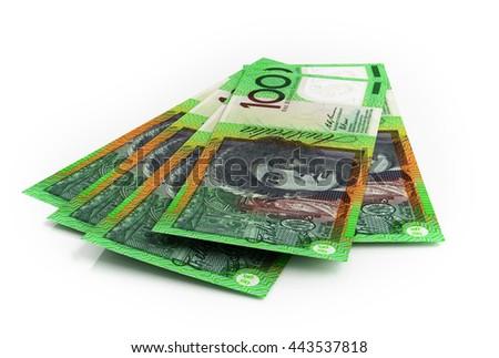 Australian dollar banknotes. 3d rendering. - stock photo