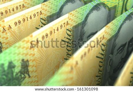 Australian Dollar Closeup - stock photo