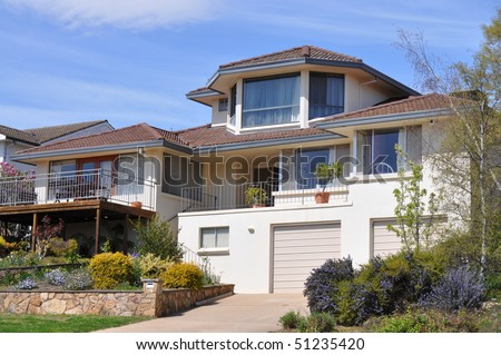 australian family home - stock photo