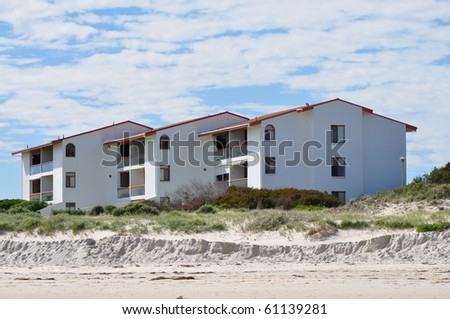 Australian family house. House on the beach - stock photo
