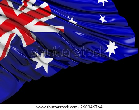 Australian Flag with black - stock photo