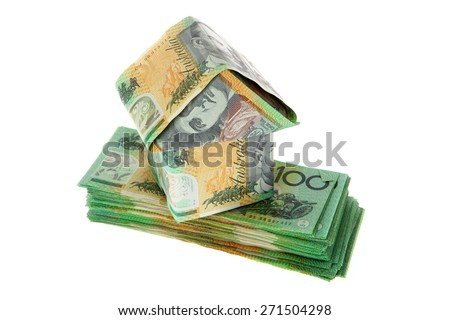 Australian Money - Aussie currency house - stock photo