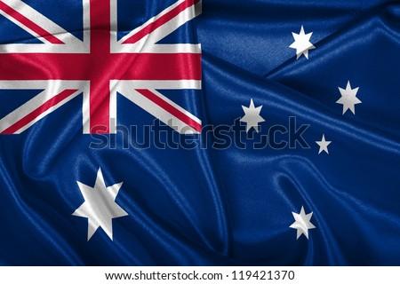 Australian national flag. - stock photo