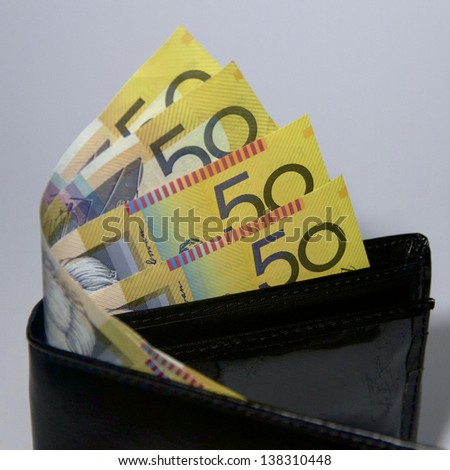 Australian Notes - stock photo