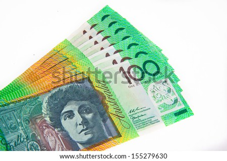 Australian  $100 notes - stock photo