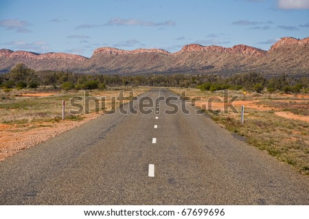 australian outback, stewart highway northern territory - stock photo